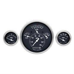 Classic Instruments CH01BSLF Tetra Series 1957 Chevy Gauge Set, Black