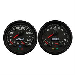 New Vintage USA 01257-01 Performance Series 3 in 1 Gauges, Black