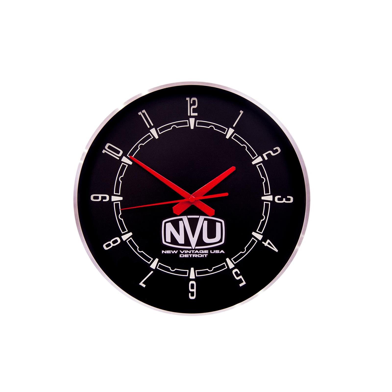 New Vintage Usa 37192 01 New Vintage Wall Clock Black