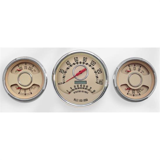 New Vintage USA 37344-02 3 Gauge Combo Woodward Series 4 3/8