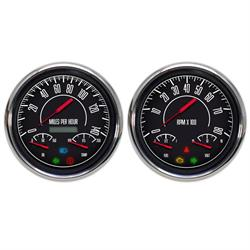 New Vintage USA 67257-01 1967 Series 3 in 1 Gauges, Black/White