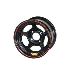 Bassett 30SH55 13X10 D-Hole 4x100 mm 5.5 In Backspace Black Wheel