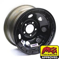 Speedway 15 x 8 Black 2 Backspace IMCA Wheel, 5 on 5 w/ Beadlock