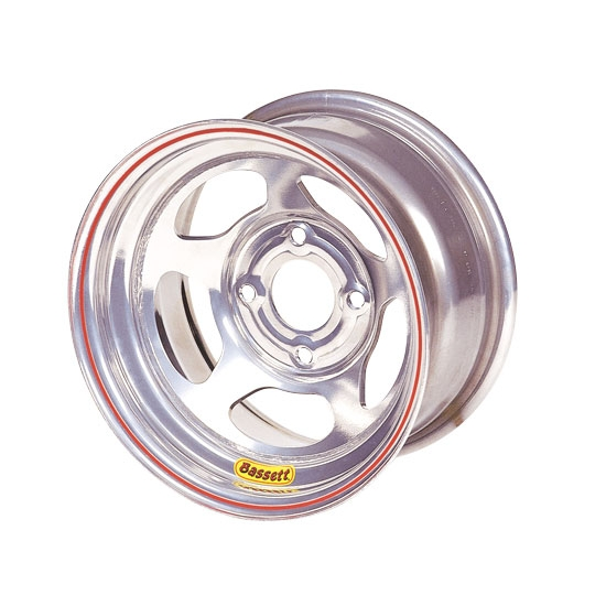 Bassett 37SH25S 13X7 Inertia 4 on 100mm 2.5 In. Backspace Silver Wheel
