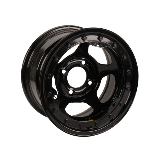 Bassett 38SH3L 13X8 Inertia 4 on 100mm 3 Inch BS Black Beadlock Wheel