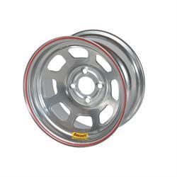 Bassett 47ST3S 14X7 D-Hole 4 on 4.5 3 Inch Backspace Silver Wheel