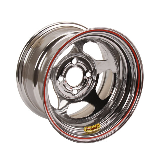 Bassett 48ST3C 14X8 D-Hole 4 on 4.5 3 In BS Chrome Beaded Wheel