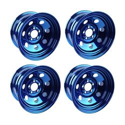 Cool Man Chromodized Steel Wheels, Set/4