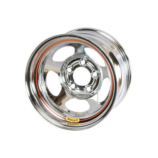 Bassett 50L54C 15X10 Inertia 5 on 5 4 Inch Backspace Chrome Wheel