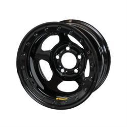 Bassett 50L54L Inertia Racing Wheel, 15 x 10, 5 on 5, 4 Inch BS, Black