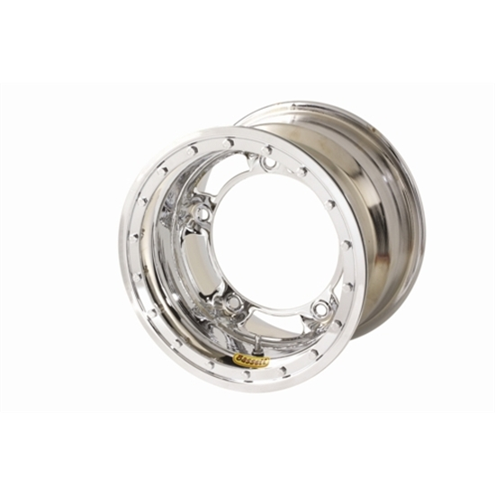 Bassett 50SR4CL 15X10 Wide-5 4 Inch BS Chrome Beadlock Wheel
