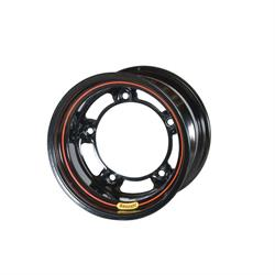 Bassett 51SR4B 15 x 11 Wide 5 Wheel, 4 Inch Backspace, Black