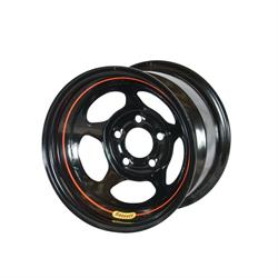 Bassett 52LT55S 15X12 Inertia 4 on 4.5, 5.5 Inch BS Black Wheel