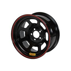 "Bassett 52SC3B 15X12 D-Hole Lite 5x5 3"" BS Black Beaded Wheel"