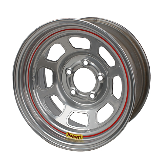 Bassett 52SC5S 15X12 D-Hole Lite 5 on 4.75 5 In Backspace Silver Wheel