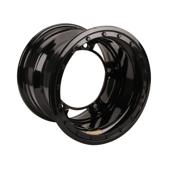 Bassett 52SR6L 15X12 Wide-5 6 Inch BS Black Beadlock Wheel