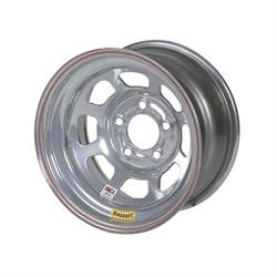 Bassett Silver D-Hole 15 Inch Wheel, Non-Beadlock, 15x8, 5 on 5, Silver