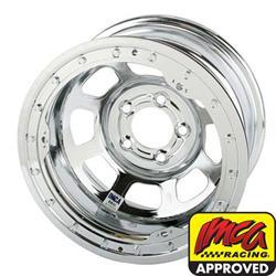 Bassett Chrome D-Hole 15 Inch Wheel, 15x8, 5 on 4-3/4, Beadlock