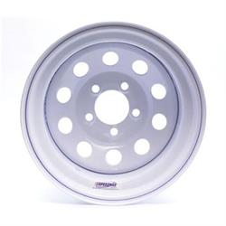 White Circle Track 15 Inch Wheel, 15x8, 5 on 4-1/2, Non-Beadlock
