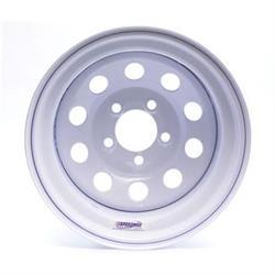 White Circle Track 15 Inch Wheel, 15x8, 5 on 4-1/2, Non-Beadlock
