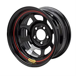 Bassett 55SJ3B 15X15 D-Hole 5 on 5.5 3 Inch BS Black Beaded Wheel
