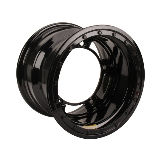 Bassett 55SR4L 15X15 Wide-5 4 Inch BS Black Beadlock Wheel