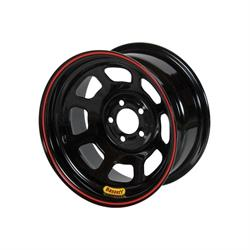 "Bassett 57S53 15X7 D-Hole Lite 5x5 3"" Backspace Black Wheel"
