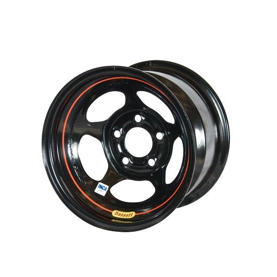 Bassett 58A52IRB 15X8 Inertia 5on5 2 BS IMCA Black Reverse Bell Wheel