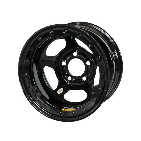 Bassett 58A52WL 15X8 Inertia 5on5 2 In BS Wissota Black Beadlock Wheel