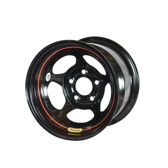 Bassett 58A52WRB 15X8 Inertia 5on5 2 BS Wissota Black Rev Bell Wheel