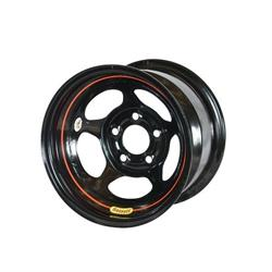Bassett 58A52W 15X8 Inertia 5 on 5 2 In Backspace Wissota Black Wheel