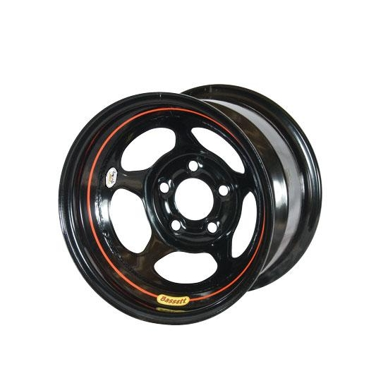 Bassett 58A53W 15X8 Inertia 5 on 5 3 In Backspace Wissota Black Wheel