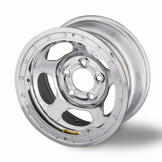 Bassett 58A54WCL 15X8 Inertia 5on5 4 BS Wissota Chrome Beadlock Wheel