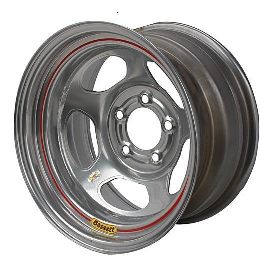 Bassett 58AC4WS 15X8 Inertia 5on4.75 4 Backspace Wissota Silver Wheel