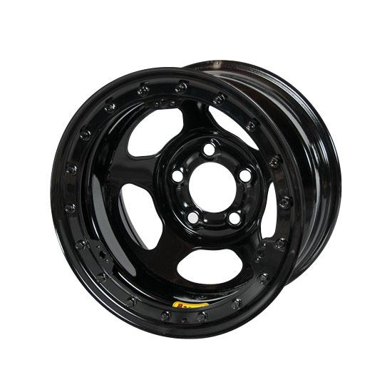 Bassett 58AF2L 15X8 Inertia 5 on 4.5 2 Inch BS Black Beadlock Wheel