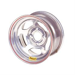 Bassett 58AH4S 15X8 Inertia 4x100 mm 4 In Backspace Silver Wheel