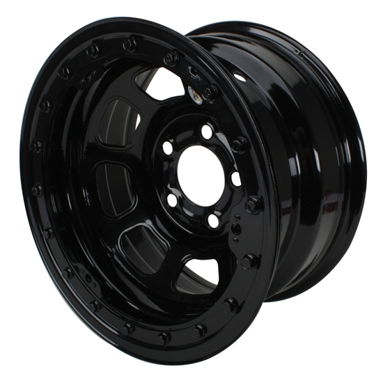 Bassett 58DC2WL 15X8 D-Hole 5on4.75 2 BS Wissota Black Beadlock Wheel