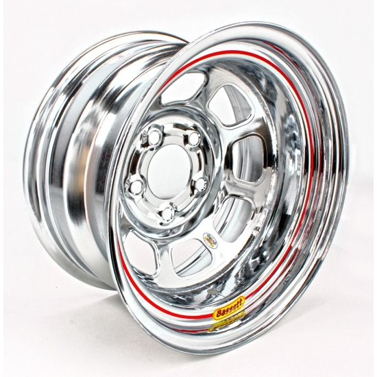 Bassett 58DC475WC 15X8 D-Hole 5on4.75 4.75 In BS Wissota Chrome Wheel