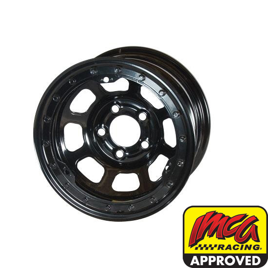 Bassett 58DF2IL 15X8 D-Hole 5 on 4.5 2 Inch BS Black Beadlock Wheel