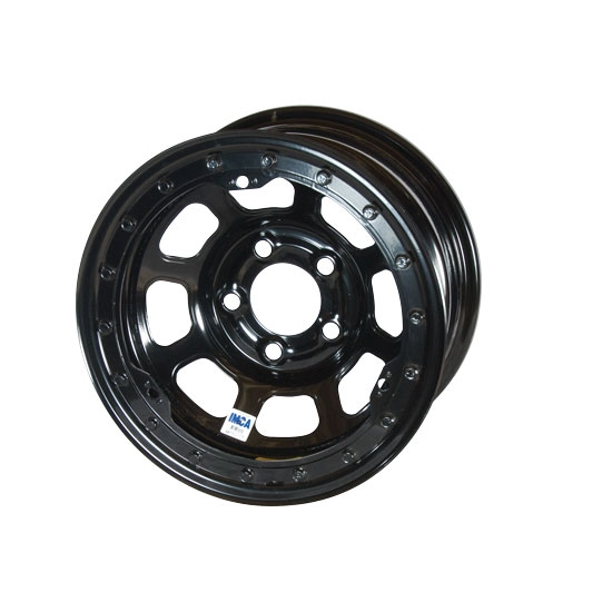Bassett 58DJ2L 15X8 D-Hole 5 on 5.5 2 Inch BS Black Beadlock Wheel
