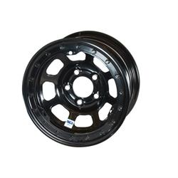 Bassett 58DJ3L 15X8 D-Hole 5 on 5.5 3 Inch BS Black Beadlock Wheel