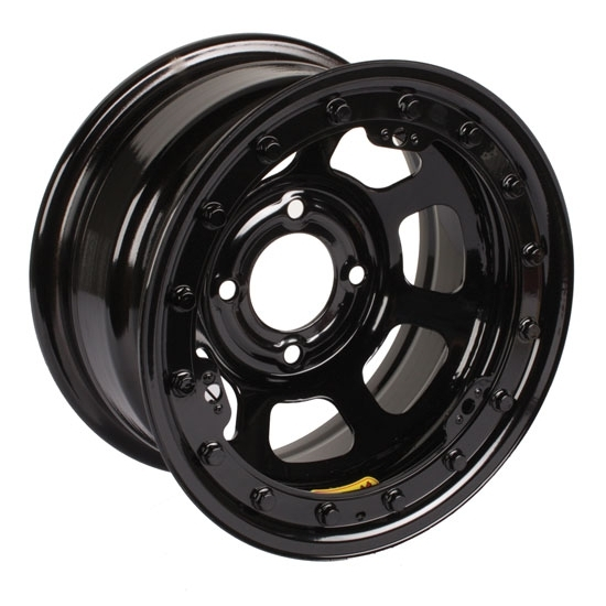 Bassett 58DP3L 15X8 D-Hole 4 on 4.25 3 Inch BS Black Beadlock Wheel