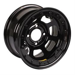Bassett 58DT3L 15X8 D-Hole 4 on 4.5 3 Inch BS Black Beadlock Wheel