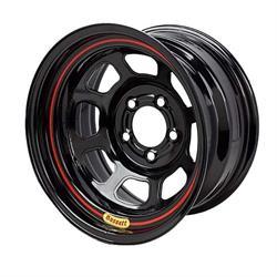 Bassett 58SP5 15X8 D-Hole Lite 4 on 4.25 5 Inch Backspace Black Wheel