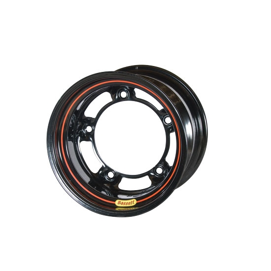 Bassett 58SR45 15X8 Wide-5 4.5 Inch Backspace Black Wheel