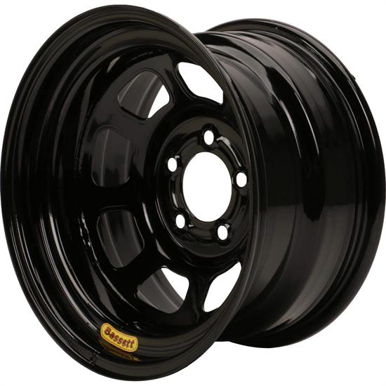 Bassett 958BF3 15X8 Excel D-Hole 5x4.5 3 In. Bckspc Black Wheel