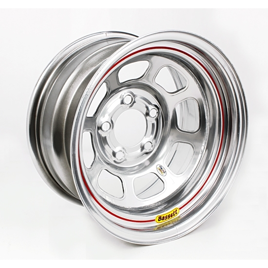 Bassett 958WC1 15X8 Excel D-Hole 5on4.75 1 In. BS Wissota Silver Wheel