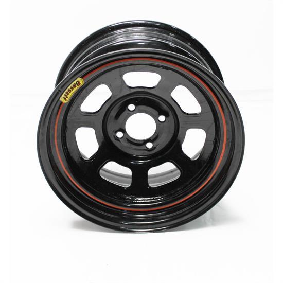 D-Hole 15x8 in 4x100 Steel Black Bassett Wheels 4in BS