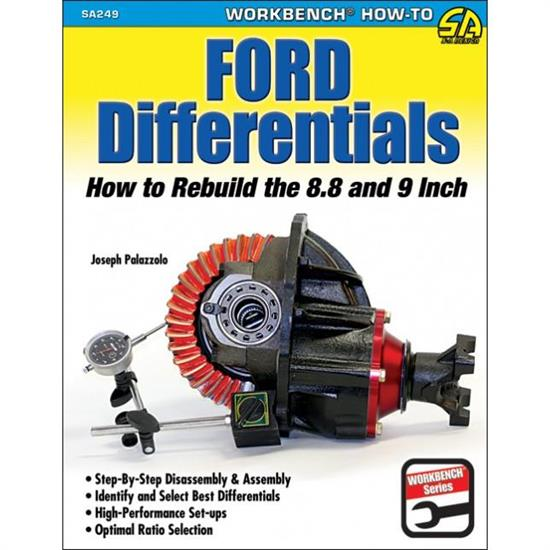 Car Tech SA249 How-To Rebuild 8.8/9 Inch Ford Differentials Book