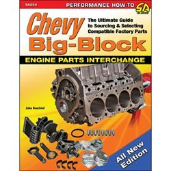 Car Tech SA254 Chevy Big-Block Engine Parts Interchange Book